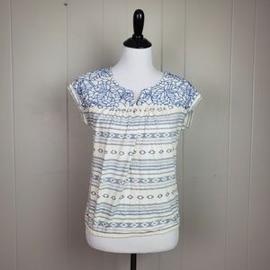 Lucky Brand Embroidered SS Top